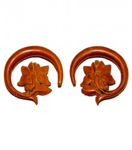 Sawo wood lotus ring(stretching sold by piece)
