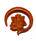 Sawo wood lotus ring