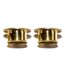 Heart Lotus brass plug