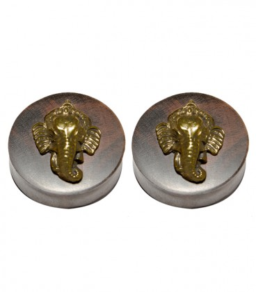 Ganesha brass and ebony plug