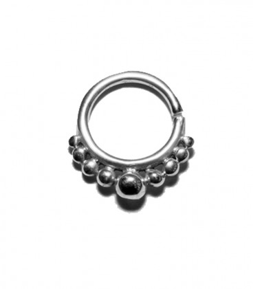 Septum 18 1,2mm silver plated
