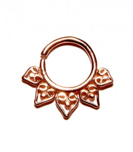 Septum 23 1,2mm plain silver Rose gold plated