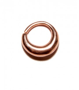 Septum 24 -1,2mm- plain silver Rose gold plated