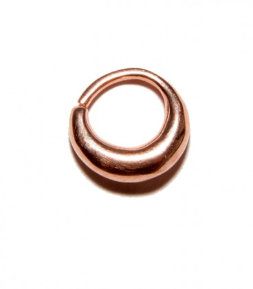 Septum 24 1,2mm plain silver Rose gold plated