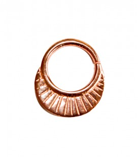 Septum 25 1,2mm plain silver Rose gold plated