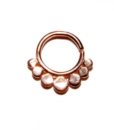 Septum 28 1,2mm plain silver Rose gold plated