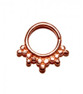 Septum 29 1,2mm plain silver Rose gold plated