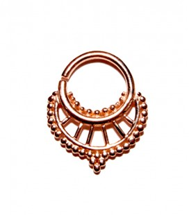 Septum 30 1,2mm plain silver Rose gold plated