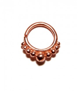 Septum 26 1,2mm plain silver Rose gold plated