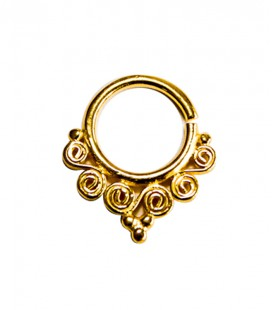 septum 69-1,2mm-Silver,gold plated