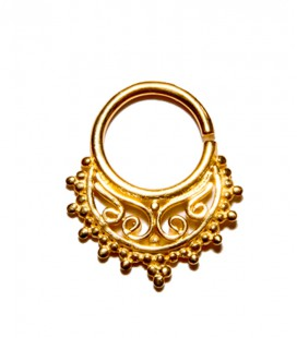 septum 72-Silver ,gold plated-1,2mm