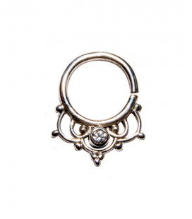 Septum 45 1,2mm plain silver clear zircon