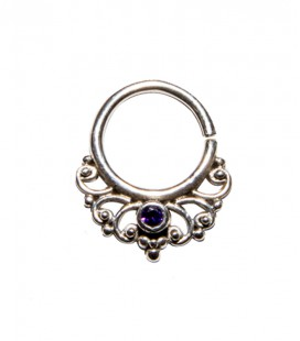 septum 51 12mm plain silver purple zircon
