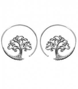 TREE OF LIFE (plaqué argent) - VENDUES PAR PAIRE