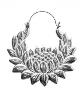 LOTUS BLOSSOM (brass,silver plated)