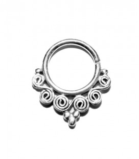 Septum 74 -1,2mm- Plain silver
