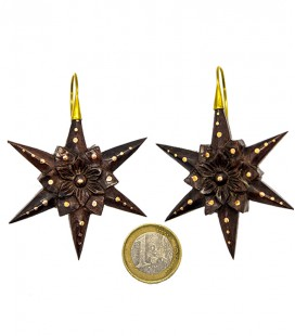 A STAR FLOWER IS BORN (wood and brass)