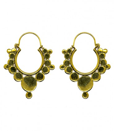 Small brass dots earing