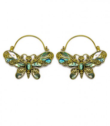 BUTTERFLY (abalone and brass)