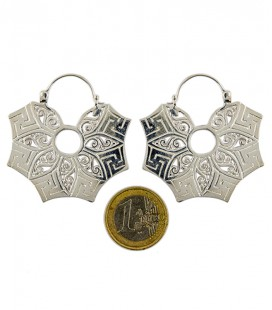 SWASTICA EARING (brass silver plated)
