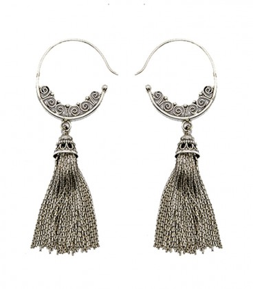 TRADITIONAL PURE SILVER HOOK by SANDRINE HECHES