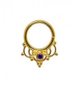 SEPTUM 80.SILVER SEPTUM PURPLE ZIRCON