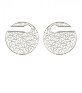 FLOWER OF LIFE DISC (LAITON PLAQUE ARGENT)