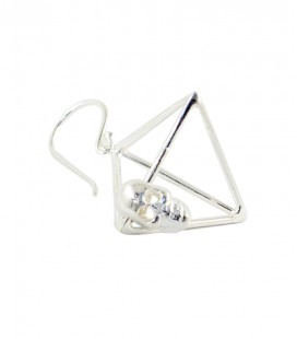TRIANGLE SKULL (BRASS SILVER PLATED)