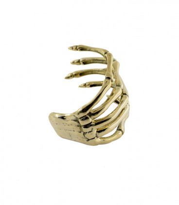 SKELETON HAND BRACELET (BRASS)