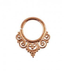 septum 64-1,2mm-Silver rose gold plated