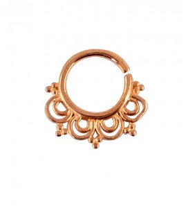septum 65-1,2mm-Silver plated rose gold