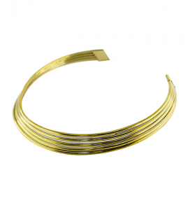 BRASS MULTI ROW NECKLACE