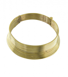 KAREN LONG NECK -BRASS NECKLACE