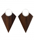 XXL COLLECTION -LOSANGES (WOOD SILVER PLATED)