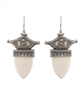 TOUAREG - BONE AND BRASS SILVER PLATED