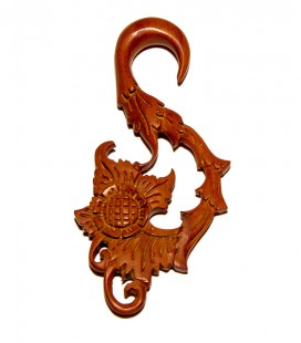 Flower hook sawo wood