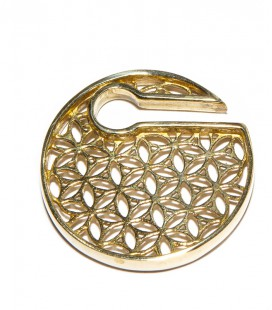 Flower of life brass disc