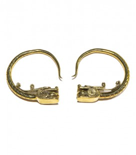 BRAGON BRASS EARRINGS- SOLD BY PIECE
