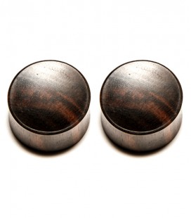 EBONY WOOD CONCAVE PLUG