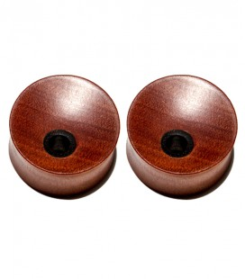 Eccentric concave SAWO and EBONY wood