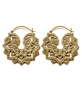 MANDALA FLOWER (brass earing) - SOLD BY PAIR