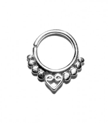 Septum 14 1,2mm silver plated