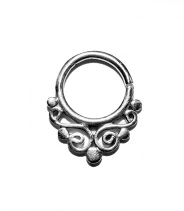 Septum 15 1,2mm silver plated