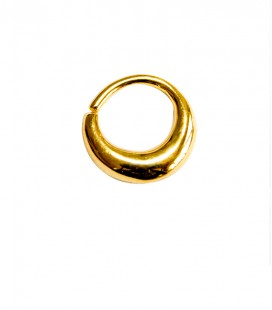Septum 1-1,2mm- plain silver gold plated