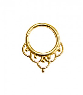 Septum 4 1.2mm plain silver gold plated