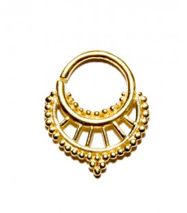 septum 2 1,2mm plain silver gold plated