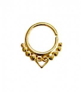 septum 3- 1,2mm- plain silver gold plated
