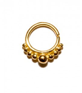 Septum 5 -1,2mm-Plain silver gold plated