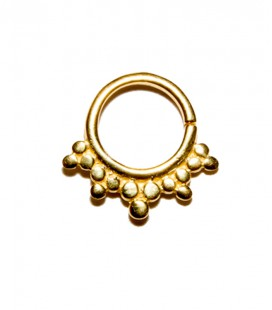 septum 7- 1,2mm- Plain silver gold plated