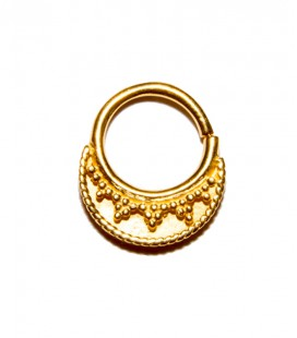 septum 8- 1,2mm -Plain silver gold plated